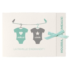 Faire part Naissance Belarto Collection Hello World - 718049