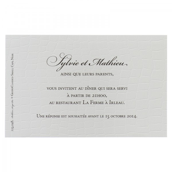 carton d 39 invitation mariage buromac la vie en rose la compagnie du faire part. Black Bedroom Furniture Sets. Home Design Ideas