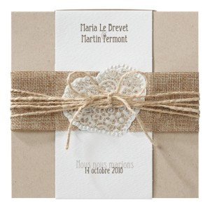 Carte invitation Mariage BELARTO  Romantic - 726074