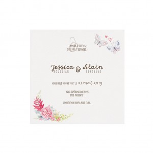 Carte d'invitation BELARTO 727530 Collection Bohemian Weddings