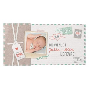 Faire-part naissance BELARTO Collection Welcome Wonder - 717025